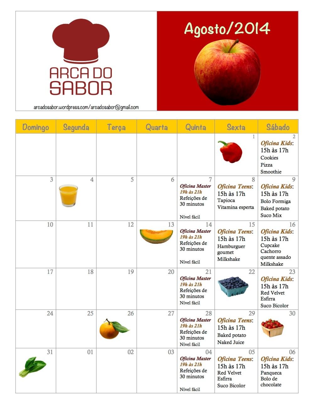 calendario AS agosto 2014