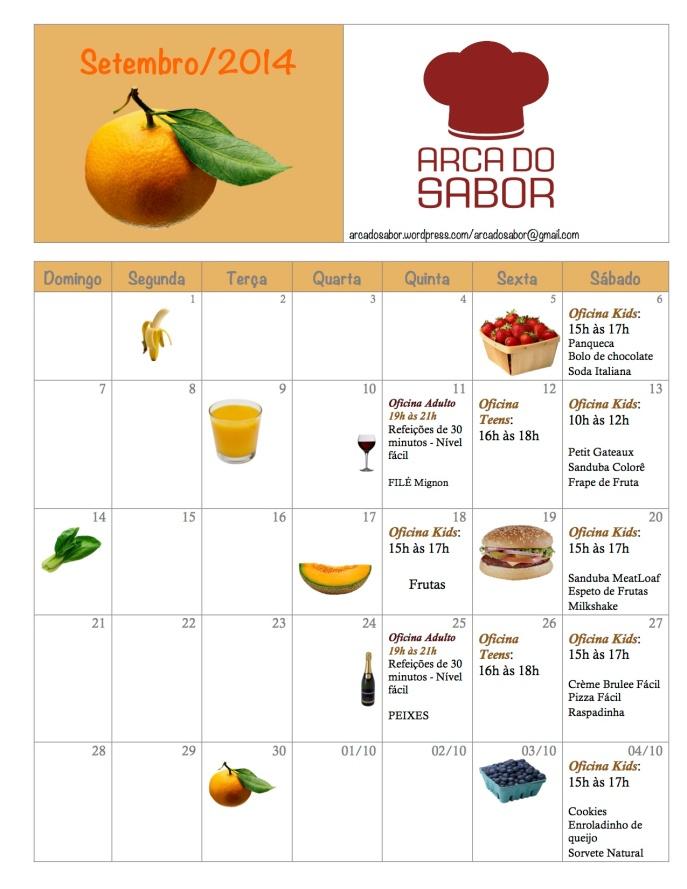 calendario AS Setembro 2014
